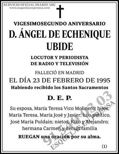 Ángel de Echenique Ubide